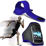 ( Blue ) Samsung Galaxy K zoom Sports corsa Jogging Sbarazzamento Bike Cycling Gym fascia di braccio di caso della copertura del sacchetto By ONX3