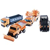 Baoblaze Diecast Legierung Fahrzeug Auto LKW Fahrzeug Modell Spielzeug Satz Für Kinder ab 3 Jahre alt - Baustellenfahrzeug - # 2