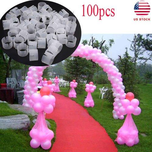 OULII 100 unids Balloon Arco Conectores Clip Anillo Hebilla Globo Flor Para Fiesta Decoración de La Boda