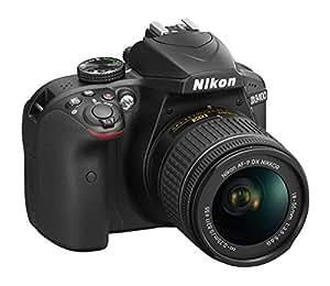 "Nikon D3400 Fotocamera Reflex Digitale con Obbiettivo Nikkor AF-P 18/55VR, 24,7 Megapixel, LCD 3"", SD da 8 GB 300x Premium Lexar, Nero [Nital Card: 4 Anni di Garanzia]"