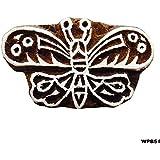 Decorativo Casero De Bloques De Madera Mariposa Carfted Sellos De Impresión Textil Marrón Indio Elegante Patrón Tallada A Mano Del Arte DIY De La Toma De Tatuaje
