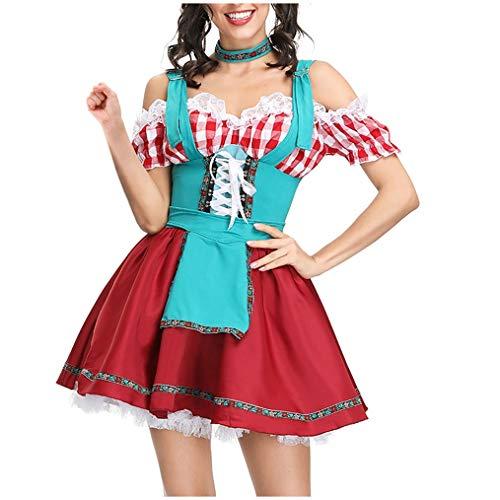 Kostüm Maid Beer Sexy - NAIHEN Frauen Kleid Sexy Dessous Beer Maid Kleidung Festival Kleid Cosplay Kostüme