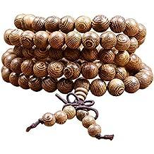 Collana legno braccialetto buddista tibetano in perline di legno | Rosario tibetano buddista |Collana bracciale uomo e donna | japa mala buddha