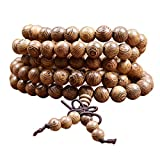 Tibetisches Armband ⭐⭐⭐⭐⭐ Holzarmband buddhistische Gebetskette Buddha Armband Mala mit 108 Holzperlen Perlenarmband
