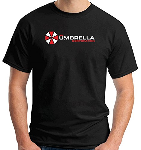 Cotton Island - T-shirt TF0044 inspired by Resident Evil The Umbrella Corporation, Taglia x-large