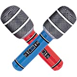 Inflatable Microphone - 26.6cm. Comes in Assorted Colours