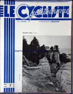 CYCLISTE CYCLOTOURISME (LE) [No 3] du 01/03/1948 - ROUSSILLON D'APT DANS LE VAUCLUSE