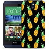 coque housse etui silicone tpu gel case cover pour htc desire 610 - black pineapple Silicone