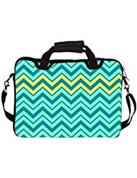 "Snoogg Aqua Shades 2576 14"" 14.5"" 14.6"" Inch Laptop Notebook SlipCase With Shoulder Strap Handle Sleeve Soft Case..."