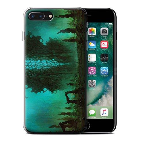 Offiziell Chris Cold Hülle / Gel TPU Case für Apple iPhone 7 Plus / Planet/Mond Muster / Fremden Welt Kosmos Kollektion Alien Landschaft