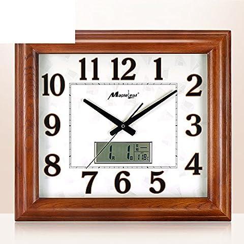 Salon Muet Chinois Horloge/Horloge Simple/Chambre Mur Graphiques Calendrier Perpétuel Horloge