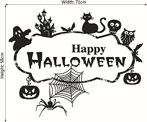 Kreative Cupcake Ideen Für Halloween - Moderner Glücklicher Halloween Wandaufkleber Mode Brief