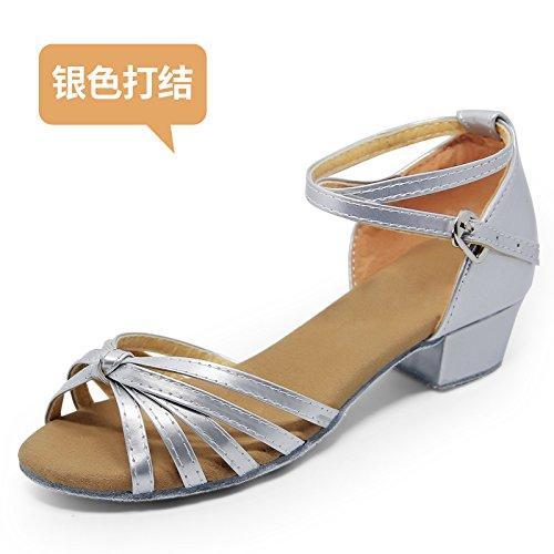 Wuyulunbi@ ballo latino sala da ballo scarpe da ballo le scarpe da ballo 801 ARGENTO