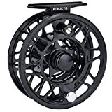 KastKing Kobuk Fly Fishing Reel with Large Arbor, CNC machined T6061 Aluminum Alloy Body and Spool in Fly Reel Sizes 3/4, 5/6, 7/8, 9/10 - Light Weight yet Incredibly Strong (Black, Kobuk-7/8 Reel)
