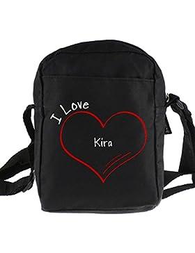 Umhängetasche Modern I Love Kira schwarz