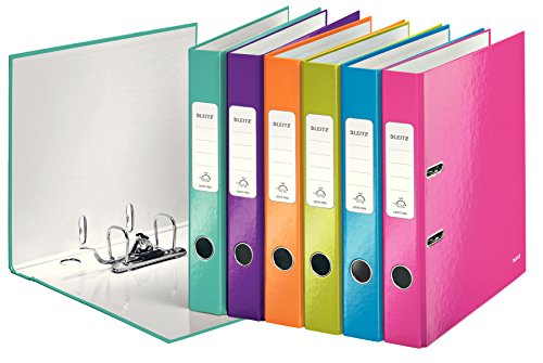 Leitz WOW - Carpeta de cartón (Multi, Color blanco, Cartón, Storage, A4, palanca)