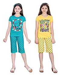 SINIMINI GIRLS DOT PRINT CAPRI SET COMBO