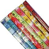 5 Rollen Geschenkpapier unterschiedliche Muster je Rolle 200 cm x