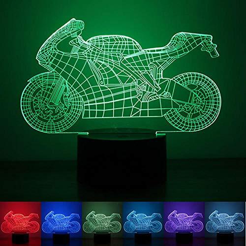 Personalizzato moto creativo luce notturna moderna pulsante minimalista tipo 3D luci colorate a LED