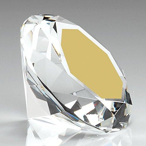 Gravur personalisierbar briset Glas Diamant Briefbeschwerer Trophy Kostenlose Gravur -