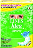 Lines - Assorbenti Idea, Liberty, anatomico, ipoallergenico, con molecula attiva -   16 pezzi