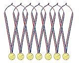 DSstyles medaglie dei vincitori 24 pezzi Medaglie d'oro per bambini Bambini Medaglie di plastica Vincitori per i premi sportivi dei giochi