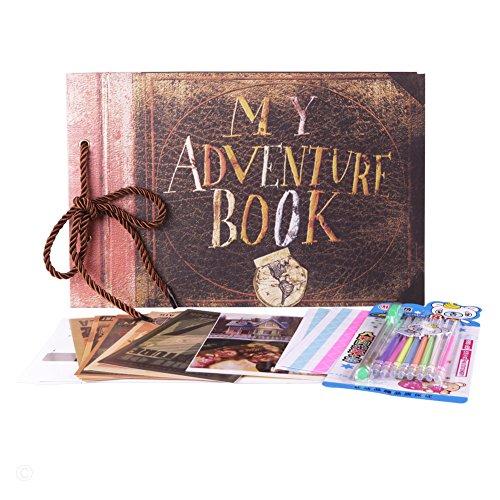 Osunp My Adventure Book, foto album, album fai-da-te come diario, album fotografico, album di nozze, album retrò, album di ritagli per anniversario My Adventure Book