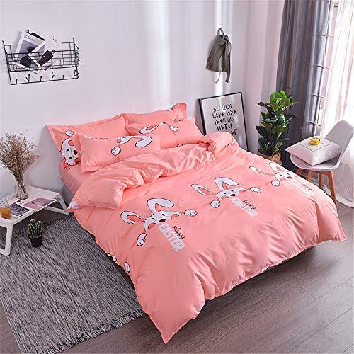 YUNSW Bettbezug aus Reiner Baumwolle mit hoher Dichte Bettwäsche-Set Double Tröster Single Quilts König Queen Size C 200x230cm -