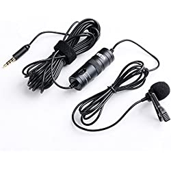BOYA Micro-cravate Omnidirectionnel Audio Enregistrement Microphone à Condensateur avec 6m câble pour PC Sony Nikon Olympus Canon Caméscopes Caméras vidéo et Apple iphone Samsung Smartphone etc