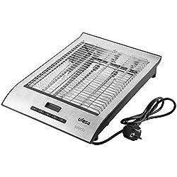 UFESA TT7920 Grille-Pain Plat 700 W, Ecran LCD, Ajustement Rotation, Blanc