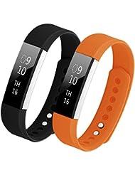 Hanlesi Armband für Fitbit Alta,TPU Silikon Einstellbare Ersatz Sport Band für Fitbit Alta and Fitbit Alta HR