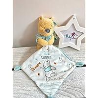 Doudou personnalisé garçon Winnie l'ourson Disney prénom bébé