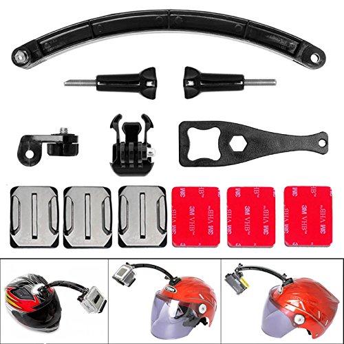 Victool® 9-in-1 Action Camera Helmet Mount Adhesive Mount Kit Helmet Selfie Pole Buckle Clip Sony Adapter for GoPro Helmet Mount w/ Extension Arm for SONY FDR X-3000V X1000VR HDR AS 300 AS-10 AS-15 AS-20 AS-30 AS-50 AS-100 AS-200 AZ-1 GoPro Hero 5 / 4/3+/3/ Session / SJCAM SJ4000 SJ5000 / Garmin Virb XE / Xiaomi Yi / DBPOWER QUMOX Akaso Apeman etc GoPro-Like Action Cam + Nikon Canon Pentax Olympus Panasonics Lumix Ricoh Kodak Casio etc Waterproof Camera
