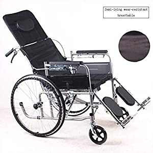 Days Escapes Lightweight Soft Seat Squat Bucket Wheelchair Detachable Foot Pedal Portable Folding Travel Chair Self-propelled Wheelchair
