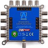 Anadol Zero Watt 5/8 - Eco - Commutatore Multiplo Senza Corrente per 8 partecipanti - Basso consumo di Corrente - 0 Watt Standby Multiswitch [Digital, HDTV, FullHD, 4K, UHD]
