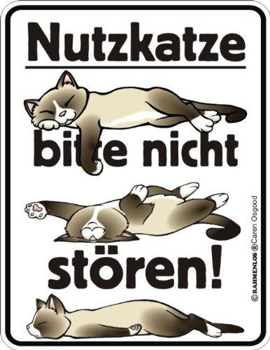 NUTZ KATZE BITTE NICHT STÖREN FUNSCHILD ALU SPAß R047 -
