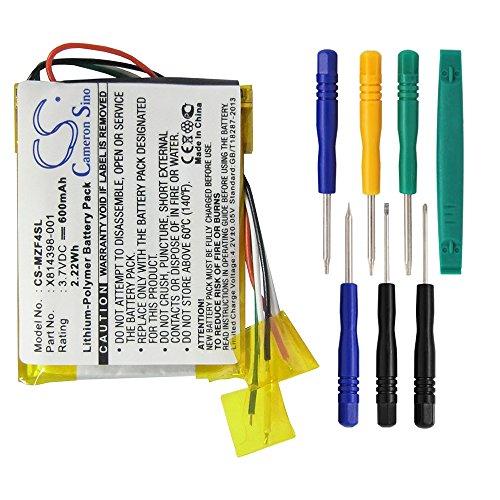 techgicoo 600mAh/2.22Wh Akku kompatibel mit MICROSOFT Zune 4G, Zune 8G, Zune Flash 4GB, Zune hsa-00001, Zune hsa-00003, Zune hsa-00005, und andere (7/PCs toolskits enthalten) (Zune-flash)