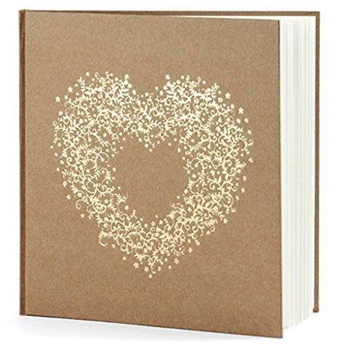 Gästebuch Hochzeit Hochzeitsgästebuch Fotoalbum Hochzeitsalbum Hochzeitsbuch mit Herzverzierung von Haus der Herzen ®