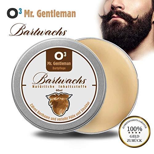 O³ Bartwachs // Professionelle Bartpflege 60ml Männer // Bartbalm natürlich und pflegend mit angenehmem Duft // Beard balm wax - Bart Balsam - Pomade -