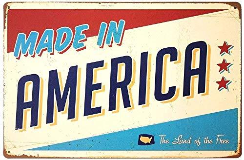 CDecor Made in America Blechschilder, Metall Poster, Retro Warnschild Schilder Blech Blechschild Malerei Wanddekoration Bar Geschäft Cafe Garage