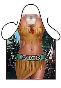 Tannhäuser Tann Casas 43-100120Delantal de Native American Girl, unisex de adulto, One size
