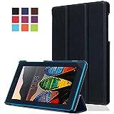 ELTD Lenovo Tablet 3-710F Etui, Ultra Slim PU Leather etui Housse pour Lenovo Tablet 3-710F, Noir