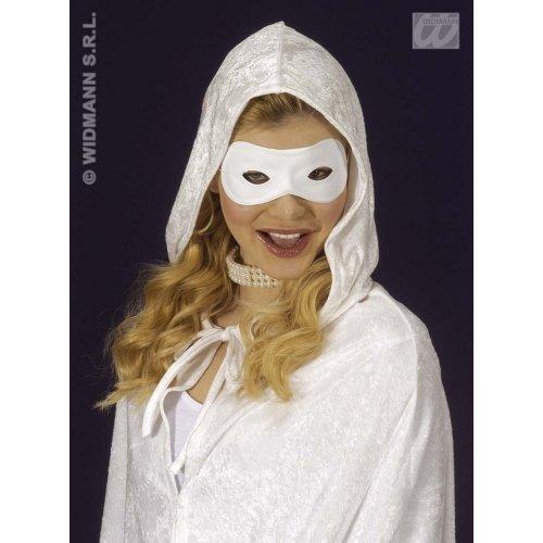 WIDMANN Augenmaske, überstreichbar, weiß, PVC, Karneval, Party, Masken, Augenmasken und Verkleidungen für Maskenade, Kostüm-Zubehör