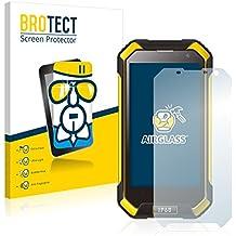 BROTECT AirGlass Protector Pantalla Cristal Flexible Transparente para Blackview BV6000 Protector Cristal Vidrio - Extra-Duro, Ultra-Ligero, Ultra-Claro