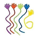 JUNGEN 20 Stück Vinyle Glitter Mini Sticky Hands Jouets pour enfants Fête Anniversaires