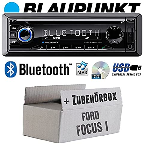 Ford Focus 1 - BLAUPUNKT Barcelona 230 - Bluetooth | CD | MP3 | USB Autoradio - Einbauset