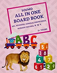 Amazon Brand - Solimo All In One Long Board Book (English and Hindi Alphabet, Numbers, General Knowledge, Nurs
