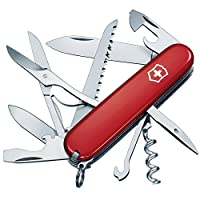 Victorinox Huntsman couteau suisse  15 Fonctions -  - Grande lame  - Petite lame  - Scie à bois  - Ouvre-boîte/petit tournevis  - décapsuleur, tournevis et à dénuder  - Ciseaux - Tire-bouchon  - Reamer/coup de poing  - chas  - crochet multifonctions ...