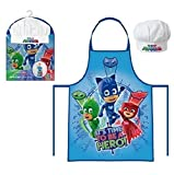 PJ Masks Kinder Koch-Set Kochschürze und Kochmütze
