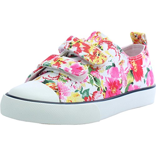 Polo Ralph Lauren Harbour Low Ez C Pink Floral Textile Junior Trainers Pink Floral